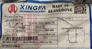 Bao bì nhập khẩu nhôm xingfa